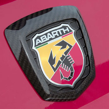 ABARTH 500 Carbon Rear Emblem Cover by THREE HUNDRED