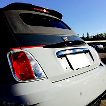 ABARTH 500 Carbon Rear Gate Spoiler by THREE HUNDRED