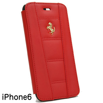 Ferrari iPhone6/6s book Type Case-Red-(458 ITALIA)