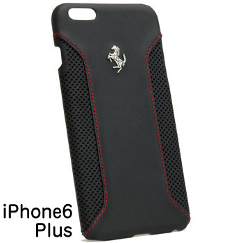 Ferrari iPhone6/6s Plus Leather Case-F12/Black-
