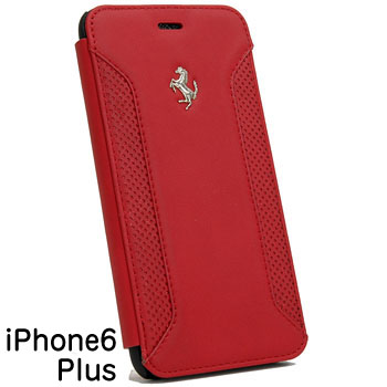 Ferrari iPhone6/6s Plus Leather Book Type Case-F12/Black-
