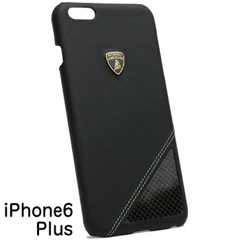 Lamborghini iPhone6/6s Plus Leather Case(Black/Carbon)