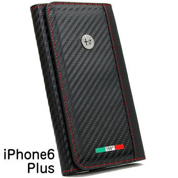 Alfa Romeo iPhone6/6s Plus Wallet Pouch (Carbon Look/Black)