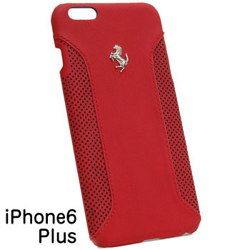 Ferrari iPhone6/6s Plus Leather Case-F12/Red-
