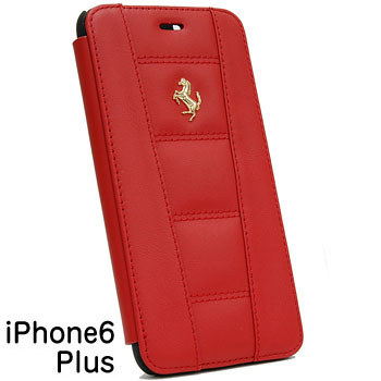 Ferrari iPhone6/6s Plus book Type Case-Red-(458 ITALIA)