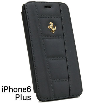 Ferrari iPhone6/6s Plus book Type Case-Black-(458 ITALIA)