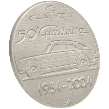Alfa Romeo Giulietta 50 anni Memorial Paper Weight by RIA(Registro Italiano Alfa Romeo)