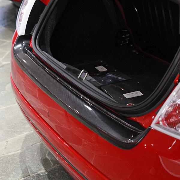 FIAT 500 Rear Bumper Protector(Carbon Look) : Italian Auto