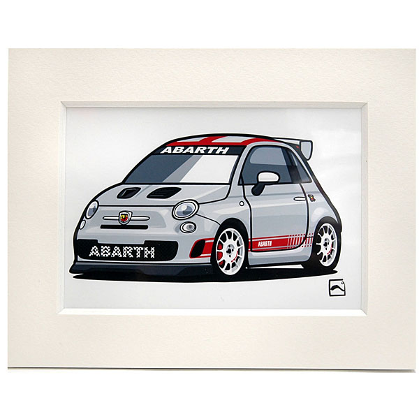 ABARTH 500 ASSETTO CORSA Small Illustration by Kenichi Hayashibe