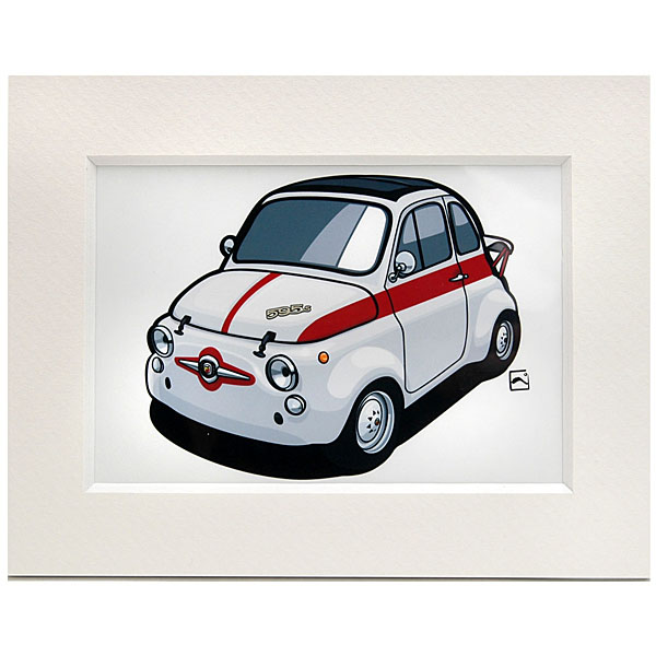 ABARTH 595SS Small Illustration by Kenichi Hayashibe