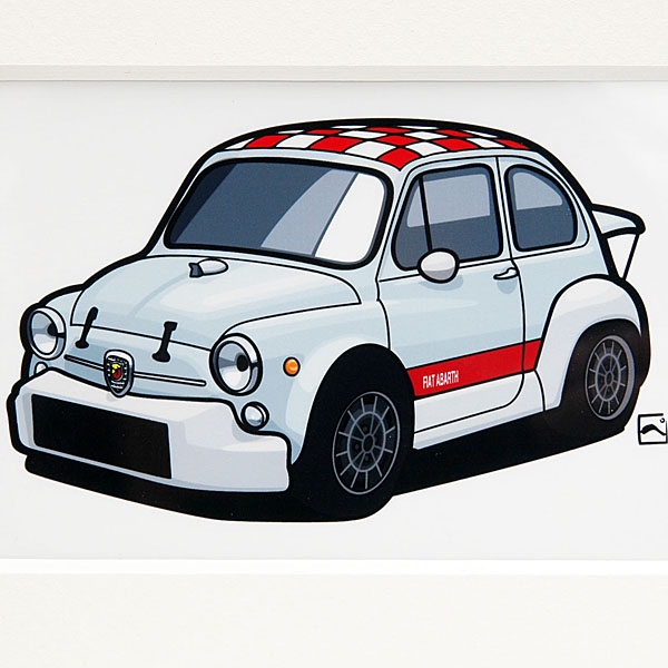 ABARTH 1000TCRスモールイラストレーション by 林部研一
