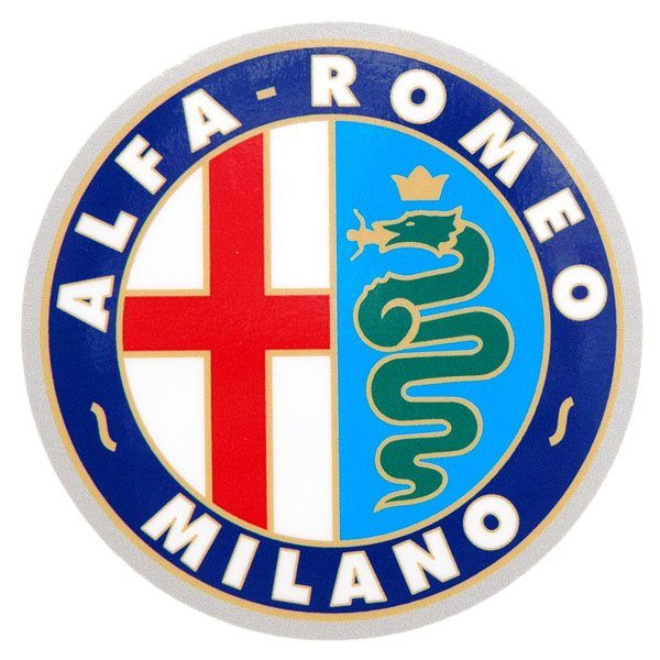 Alfa Romeo MILANO emblem sticker 100mm