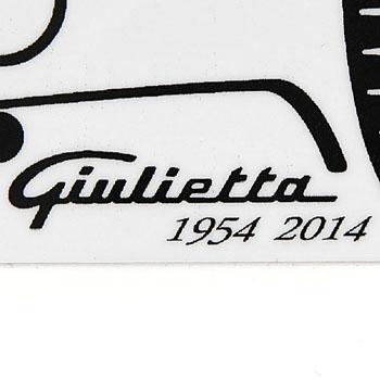alfa romeo giulietta 60th anniversary logo sticker white italian auto parts gagets. Black Bedroom Furniture Sets. Home Design Ideas