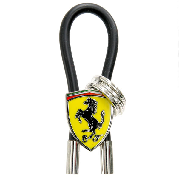 Ferrari SF Emblem Keyring(Rubber wire Type BLACK)