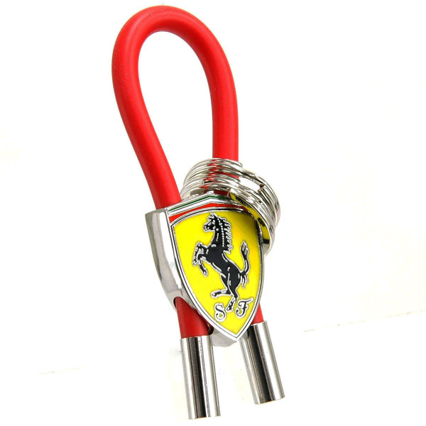 Ferrari SF Emblem Keyring(Rubber wire Type RED)