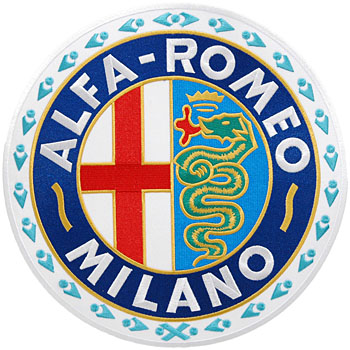 Alfa Romeo MILANO Emblem Patch-Large-