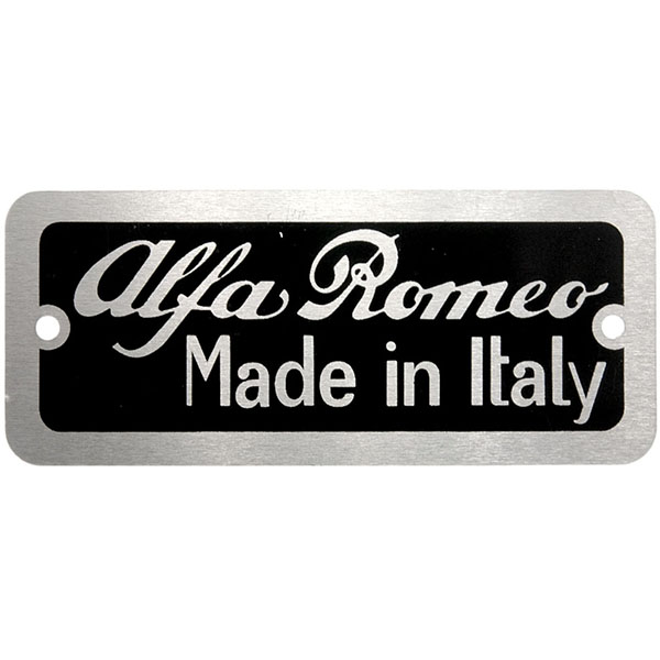 Alfa Romeo chassis plate(re-product)