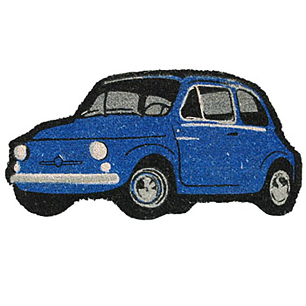 FIAT 500 Shaped rug mat(Blue)