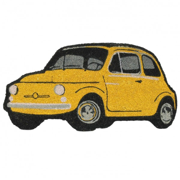 FIAT 500 Shaped rug mat(Yellow)