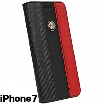 Alfa Romeo iPhone7/6/6s Book Type Case-Stripe-(BLACK)<br><font size=-1 color=red>09/07到着</font>