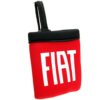 FIAT Interior Small Pouch(Red/White Logo)