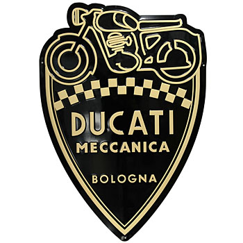 DUCATI MECCANICA Enblem Shaped Metal Sign Plate