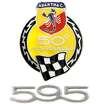 ABARTH 595 50th Anniversary Side Emblem Set