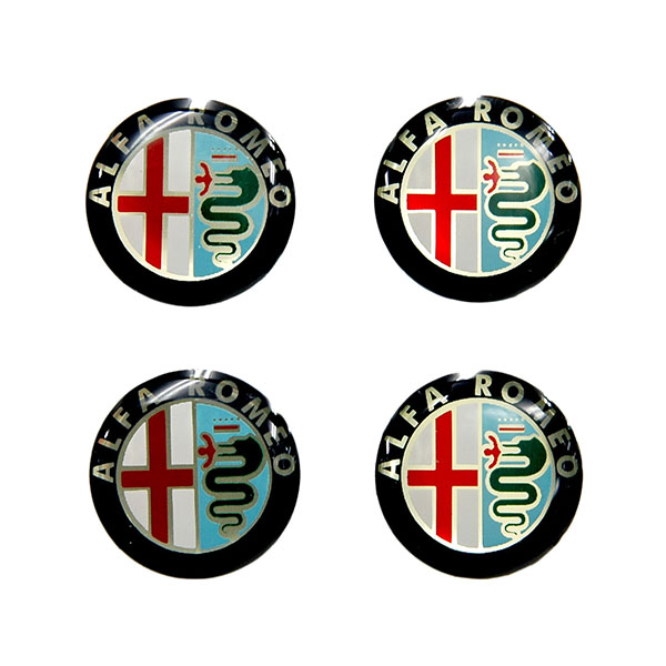 Alfa Romeo Emblem 3D Sticker(New Color/21mm/4pcs.)