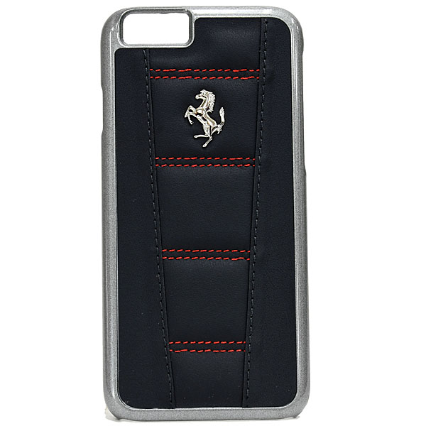 Ferrari iPhone6/6s Leather Case-458/Black.Redstitch-