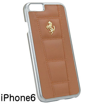 Ferrari iPhone6/6s Leather Case-458/Brown-