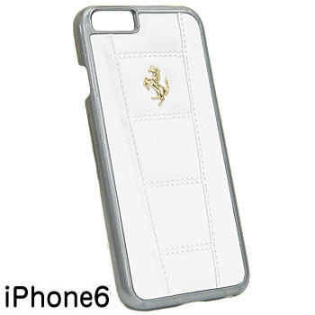 Ferrari iPhone6/6s Leather Case-458/White-
