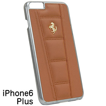 Ferrari iPhone6/6s Plus Leather Case-458/Brown-