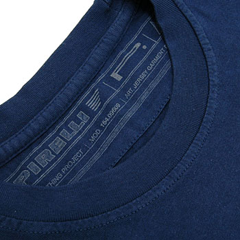 PIRELLI Logo T-shirts-Normal Type/Navy-