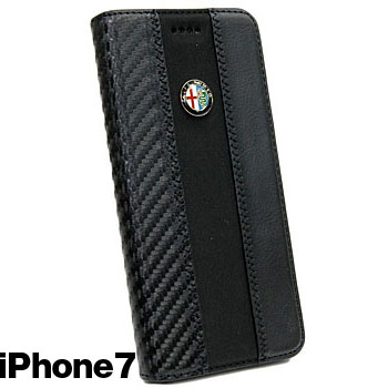 Alfa Romeo iPhone7/6/6s Book Type Case-Stripe-(BLACK/BRACK)<br><font size=-1 color=red>09/07到着</font>