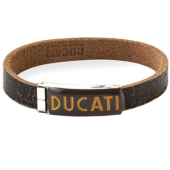 DUCATI Leather Bracelet-Retro/Gray-