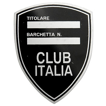 Barchetta CLUB ITALIA Version Chassis Plate