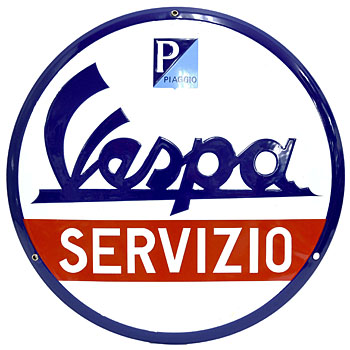 Vespa Official Sign Boad