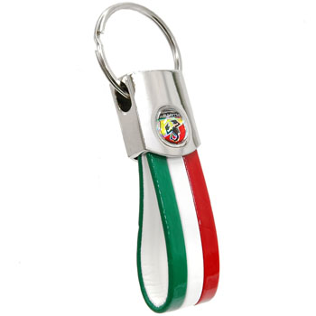 ABARTH Strap Shaped Keyring-TriColore-