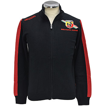ABARTH Zip-Up Cotton Sweater/Black by Kappa