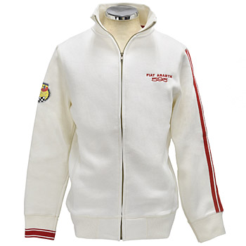 ABARTH 595 Zip-up Felpa/White