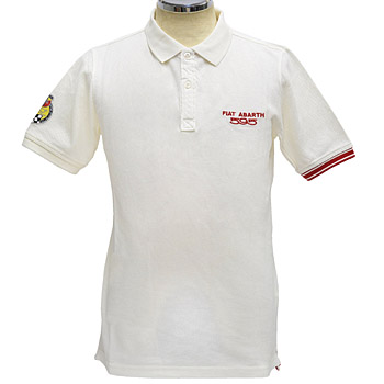ABARTH 595 Polo Shirts White