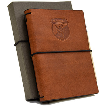 ABARTH HERITAGE Leather Cover Memo Pad