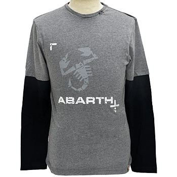 ABARTH Long Sleeves T-Shirts-Logo/Grey-