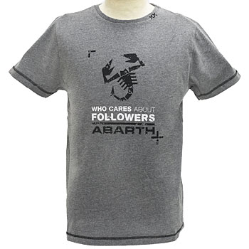 ABARTH純正Tシャツ-FOLLOWERS/グレー-<br><font size=-1 color=red>11/07到着</font>