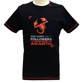 ABARTH純正Tシャツ-FOLLOWERS/ブラック-<br><font size=-1 color=red>04/26到着</font>