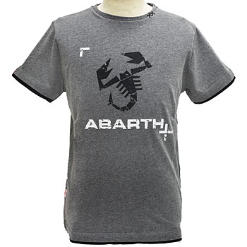 ABARTH純正Tシャツ-ロゴ/グレー-<br><font size=-1 color=red>11/07到着</font>