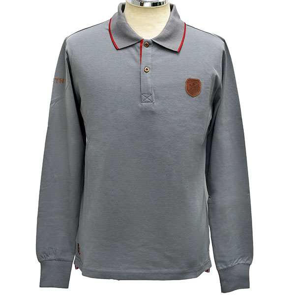 ABARTH HERITAGE Long Sleeves Polo/Grey
