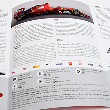 Scuderia Ferrari SF15-T Press Leaflet & Card Set
