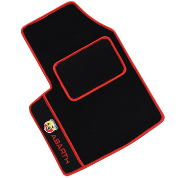 FIAT Panda 2 Floor Mats(ABARTH/Black/Red Piping/Lhd)