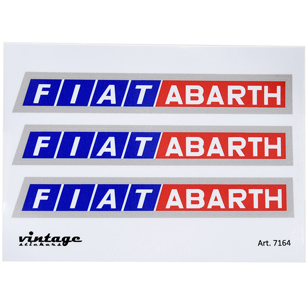 FIAT ABARTHロゴステッカーセット(3枚組)<br><font size=-1 color=red>11/19到着</font>